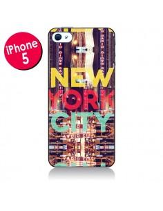 Coque New York City Buildings pour iPhone 5 - Javier Martinez