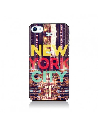 Coque New York City Buildings pour iPhone 4 et 4S - Javier Martinez