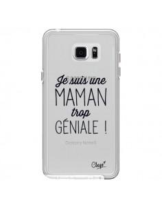 Coque Je suis une Maman trop Géniale Transparente pour Samsung Galaxy Note 5 - Chapo