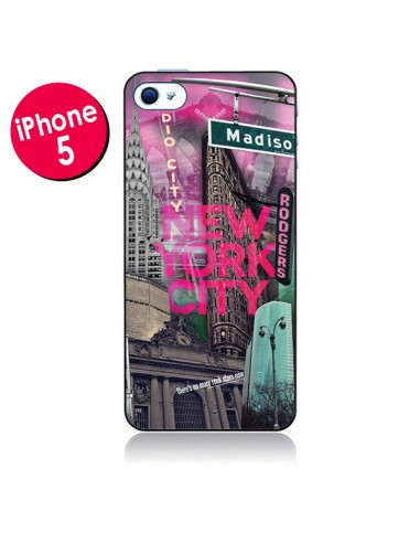 Coque New York City Rose pour iPhone 5 - Javier Martinez