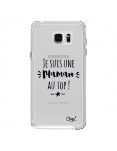 Coque Je suis une Maman au Top Transparente pour Samsung Galaxy Note 5 - Chapo