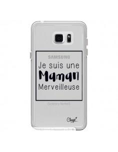 Coque Je suis une Maman Merveilleuse Transparente pour Samsung Galaxy Note 5 - Chapo
