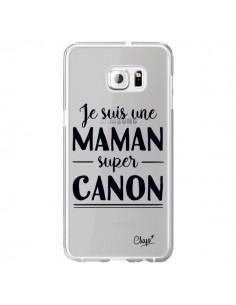Coque Je suis une Maman super Canon Transparente pour Samsung Galaxy S6 Edge Plus - Chapo