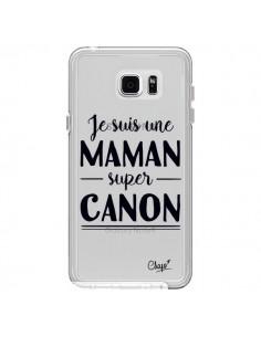 Coque Je suis une Maman super Canon Transparente pour Samsung Galaxy Note 5 - Chapo