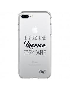 Coque Je suis une Maman Formidable Transparente pour iPhone 7 Plus - Chapo