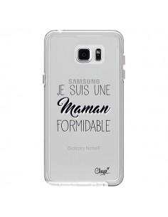 Coque Je suis une Maman Formidable Transparente pour Samsung Galaxy Note 5 - Chapo
