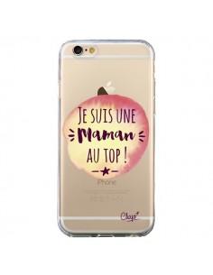 Coque Je suis une Maman au Top Orange Transparente pour iPhone 6 et 6S - Chapo