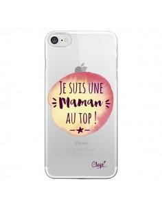 Coque Je suis une Maman au Top Orange Transparente pour iPhone 7 - Chapo