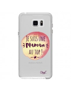 Coque Je suis une Maman au Top Orange Transparente pour Samsung Galaxy Note 5 - Chapo