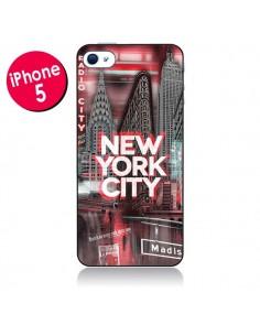 Coque New York City Rouge pour iPhone 5 - Javier Martinez