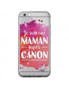 Coque iPhone 6 Plus et 6S Plus Je suis une Maman super Canon Rose Transparente - Chapo