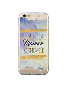 Coque Je suis une Maman Formidable Violet Transparente pour iPhone 6 et 6S - Chapo