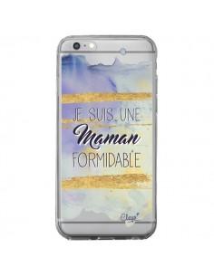 Coque iPhone 6 Plus et 6S Plus Je suis une Maman Formidable Violet Transparente - Chapo