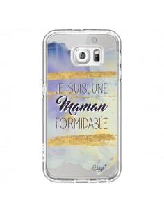 Coque Je suis une Maman Formidable Violet Transparente pour Samsung Galaxy S6 - Chapo
