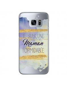 Coque Je suis une Maman Formidable Violet Transparente pour Samsung Galaxy S7 - Chapo