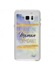 Coque Je suis une Maman Formidable Violet Transparente pour Samsung Galaxy Note 5 - Chapo