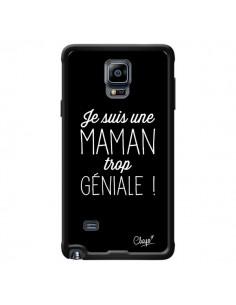 Coque Je suis une Maman trop Géniale pour Samsung Galaxy Note 4 - Chapo
