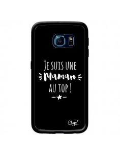 Coque Je suis une Maman au Top pour Samsung Galaxy S6 Edge - Chapo