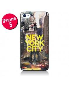 Coque New York City Jaune pour iPhone 5 - Javier Martinez
