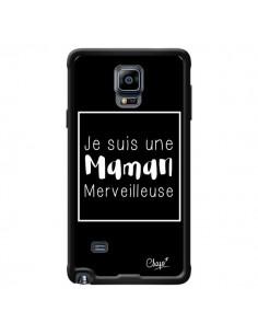 Coque Je suis une Maman Merveilleuse pour Samsung Galaxy Note 4 - Chapo