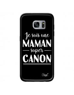 Coque Je suis une Maman super Canon pour Samsung Galaxy S7 - Chapo