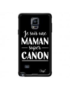 Coque Je suis une Maman super Canon pour Samsung Galaxy Note 4 - Chapo