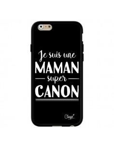 Coque iPhone 6 et 6S Je suis une Maman super Canon - Chapo
