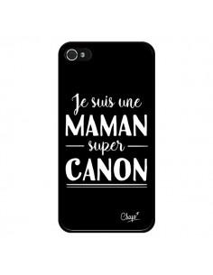 Coque iPhone 4 et 4S Je suis une Maman super Canon - Chapo