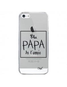 Coque iPhone 5/5S et SE Elu Papa de l'Année Transparente - Chapo