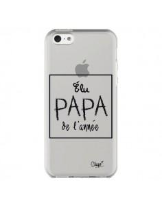 Coque Elu Papa de l'Année Transparente pour iPhone 5C - Chapo