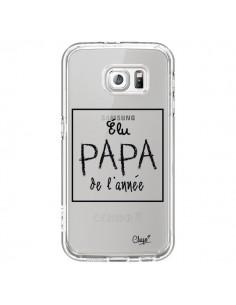 Coque Elu Papa de l'Année Transparente pour Samsung Galaxy S6 - Chapo