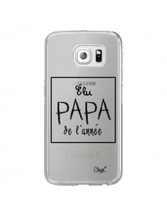 Coque Elu Papa de l'Année Transparente pour Samsung Galaxy S6 Edge - Chapo