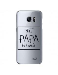 Coque Elu Papa de l'Année Transparente pour Samsung Galaxy S7 - Chapo