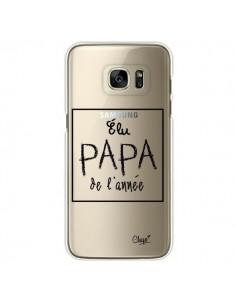 Coque Elu Papa de l'Année Transparente pour Samsung Galaxy S7 Edge - Chapo