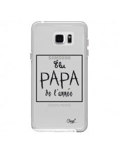 Coque Elu Papa de l'Année Transparente pour Samsung Galaxy Note 5 - Chapo