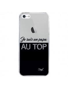 Coque iPhone 5/5S et SE Je suis un Papa au Top Transparente - Chapo