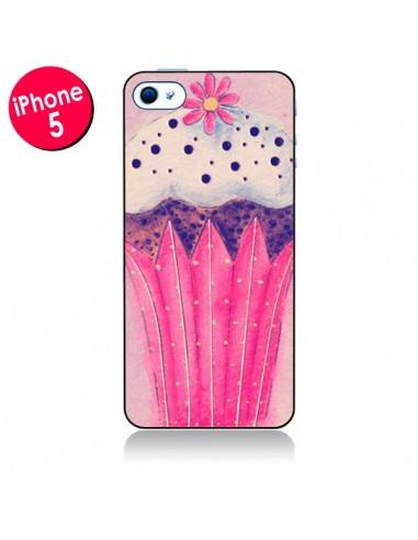 Coque Cupcake Rose pour iPhone 5 - Irene Sneddon