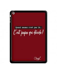 Coque C'est Papa qui Décide Rouge Bordeaux pour iPad Air - Chapo