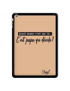 Coque C'est Papa qui Décide Beige pour iPad Air - Chapo