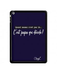 Coque C'est Papa qui Décide Bleu Marine pour iPad Air - Chapo