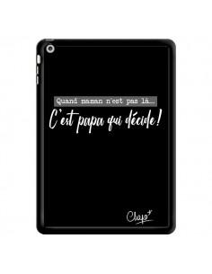 Coque C'est Papa qui Décide Noir pour iPad Air - Chapo