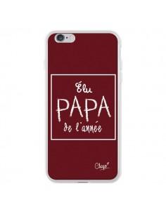 Coque iPhone 6 Plus et 6S Plus Elu Papa de l'Année Rouge Bordeaux - Chapo