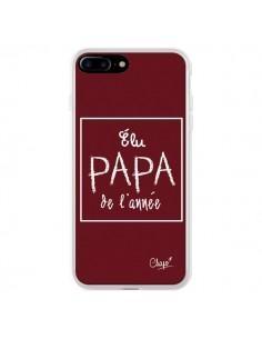 Coque Elu Papa de l'Année Rouge Bordeaux pour iPhone 7 Plus - Chapo