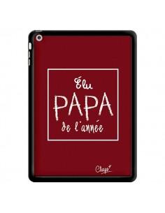 Coque Elu Papa de l'Année Rouge Bordeaux pour iPad Air - Chapo