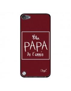 Coque Elu Papa de l'Année Rouge Bordeaux pour iPod Touch 5/6 et 7 - Chapo