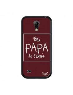 Coque Elu Papa de l'Année Rouge Bordeaux pour Samsung Galaxy S4 Mini - Chapo