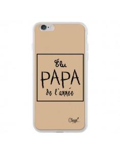 Coque iPhone 6 Plus et 6S Plus Elu Papa de l'Année Beige - Chapo
