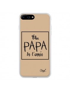 Coque Elu Papa de l'Année Beige pour iPhone 7 Plus et 8 Plus - Chapo