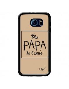 Coque Elu Papa de l'Année Beige pour Samsung Galaxy S6 - Chapo