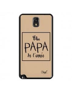 Coque Elu Papa de l'Année Beige pour Samsung Galaxy Note III - Chapo